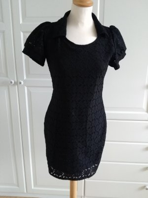 Lace Dress black mixture fibre