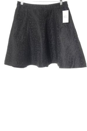Suit Flared Skirt black elegant