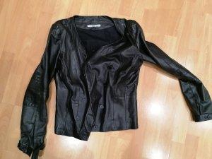 Suit Veste en cuir noir