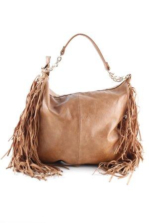 Suiteblanco Fringed Bag cognac-coloured casual look