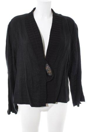 SULU Kerstin Bernecker Chaqueta estilo camisa negro look casual