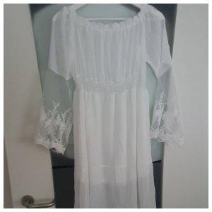 Summer Beachdress white Fashion