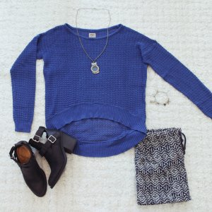 Summer Blue(s) | Vokuhila-Strickpulli in Royalblau