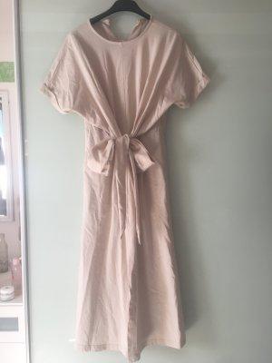 Cut out jurk goud Katoen