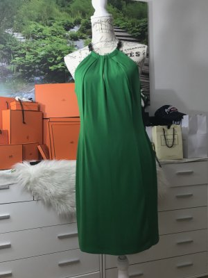100% Fashion Abito midi verde bosco