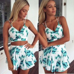 Summer Flower Jumpsuit Summer Beach