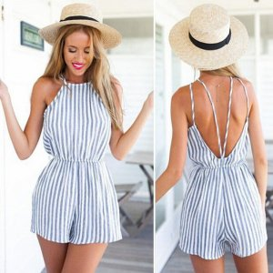 Summer Jumpsuit Backless Sling Strap