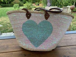 Basket Bag multicolored mixture fibre