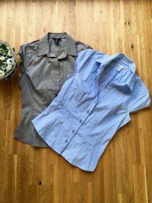 H&M Blouse à manches courtes multicolore coton