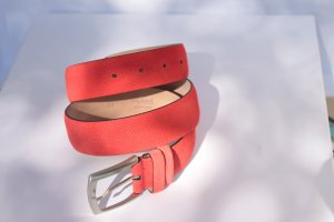 van Laack Leather Belt red leather