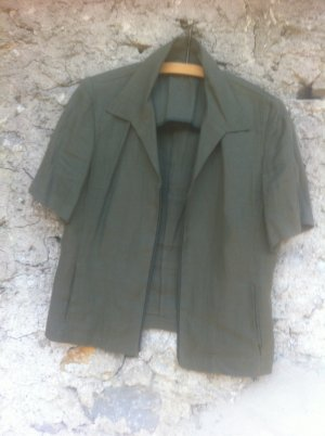 summersale !ZipperLeinen Bluse, seitl.Taschen ! superQualität, 42