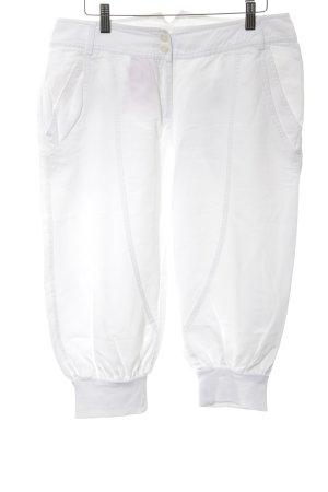 Summum Pantalone a 3/4 bianco stile semplice