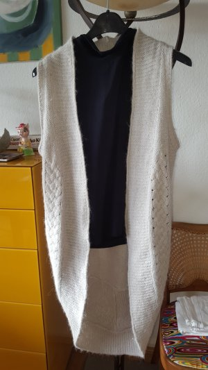 Summum Knitted Coat silver-colored