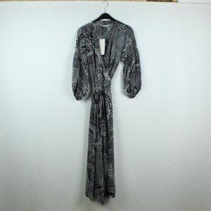 Summum Robe portefeuille blanc-noir viscose