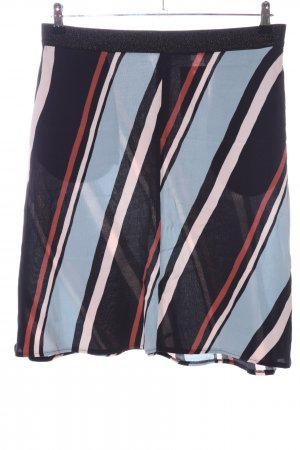 Summum Midi Skirt striped pattern elegant