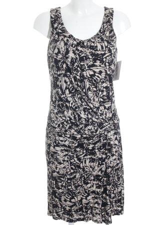 Summum Minikleid schwarz-creme abstrakter Druck Casual-Look