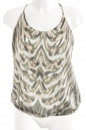 Summum Spaghetti Strap Top grass green-nude abstract pattern casual look