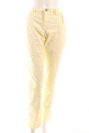 Summum Straight-Leg Jeans blassgelb klassischer Stil