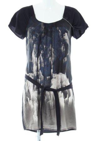 Summum Tunikakleid dunkelblau-grüngrau abstraktes Muster Casual-Look