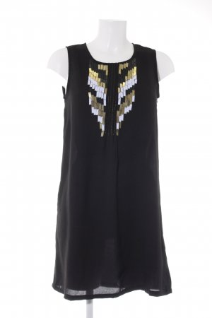 Suncoo Chiffonkleid schwarz Elegant