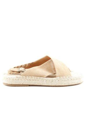 Suncoo Espadrille Sandals cream casual look
