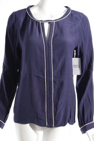 Suncoo Langarm-Bluse dunkelblau Glitzer-Optik