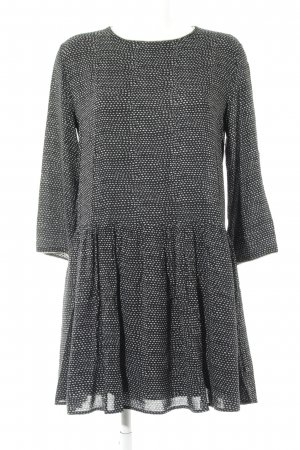 Suncoo Flounce Dress black-light grey striped pattern casual look