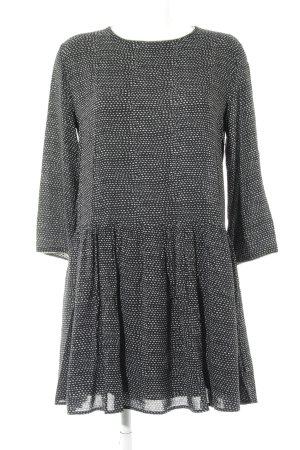 Suncoo Vestido estilo flounce negro-gris claro estampado a rayas look casual