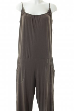 Sunday in bed. Jumpsuit graubraun meliert Casual-Look