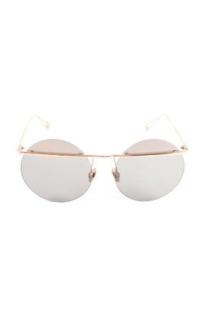 Sunday Somewhere runde Sonnenbrille dunkelgrau-roségoldfarben