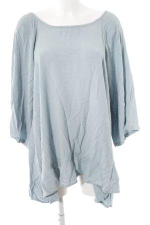 Sundress Langarm-Bluse weiß-blassblau Boho-Look