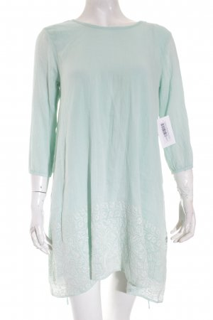 Sundress Tunikakleid hellgrün-creme abstraktes Muster Street-Fashion-Look