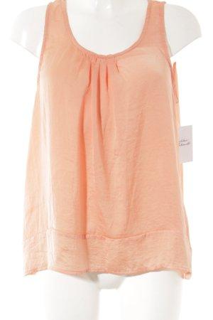 Sunichi Mouwloze blouse licht Oranje casual uitstraling