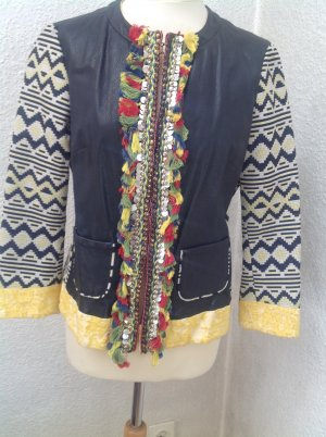 Leather Jacket multicolored mixture fibre