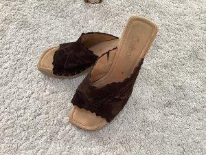 Gabor Heel Pantolettes dark brown