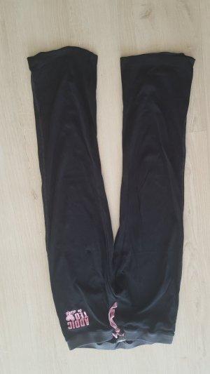Joggingbroek zwart-roze Katoen