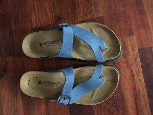 Sandalo toe-post blu