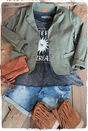 Blazer groen-grijs-khaki