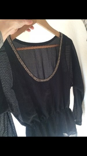 Armani Exchange Blouse black-gold-colored