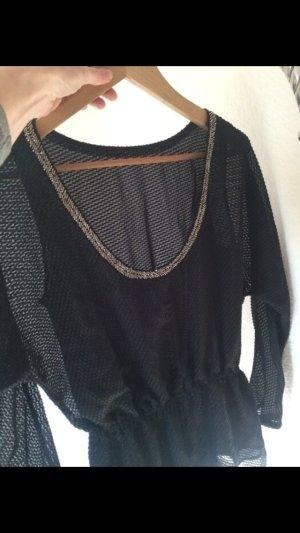 Armani Exchange Blusa negro-color oro