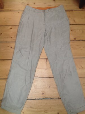 Pleated Trousers natural white mixture fibre