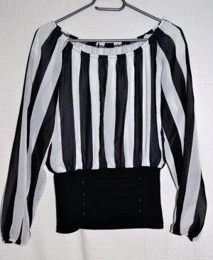 Super Chic – Bluse mit Streifen – Sexy – Schulterfrei / High Waist von H&M