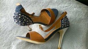 Sandalen met bandjes veelkleurig Imitatie leer