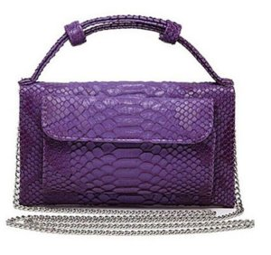 Pochette lilac leather