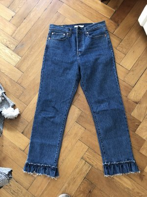 Levi's High Waist Jeans dark blue