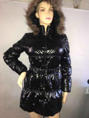 Super Daunen Jacke in gr M Farbe Schwarz Lack Kapuze abnehmbar