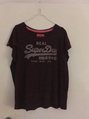 Super Dry T-Shirt Vintage Bordeaux