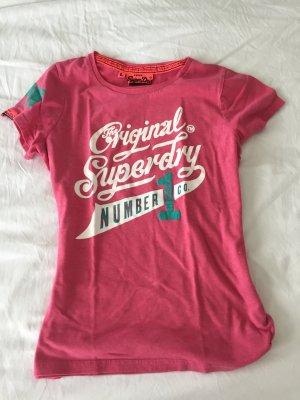 Super Dry Tshirt Größe L in pink