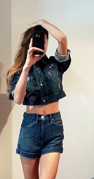 Super edle jeansjacke aus denim, spitze und Swarovski  NP: 169€