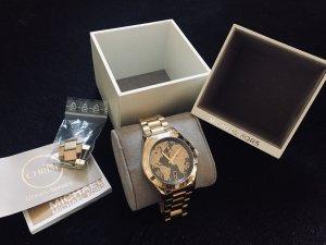 Michael Kors Horloge met metalen riempje goud-zwart